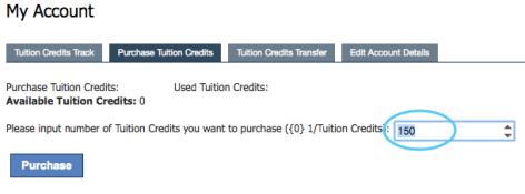 11 Purchase credits - fluoro